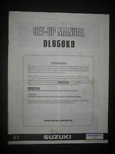 SUZUKI DL650K9 Set Up Manual Set-Up DL 650 K9 99505-01079-01E Motorcycle