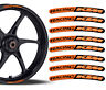 8 KTM Racing Rim Stickers Wheel Stripes Motorbike Motorcycle Moto GP Logo Emblem