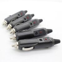 5Pcs 5A 12V High Power Male Car Cigarette Lighter Socket Plug Connector Fuse LED