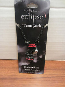 TWILIGHT ECLIPSE TEAM JACOB DOUBLE CHAIN CHARM NECKLACE