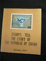 STAMPS TELL THE STORY OF THE REPUBLIC OF CHINA -OCTOBER 1977 by GENERAL OF POSTS