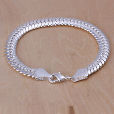 """Unisex Women's 925 Sterling Silver Bracelet 8.5"""" L4"""