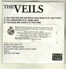 (CW437) The Veils, The Tide That Left and Never Came Back - 2004 DJ CD