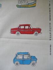 1.75 Harlequin Go Go Retro cotton fabric remnant - mini vw beetle camper van