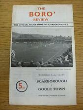 13/10/1971 Scarborough v Goole Town  (Light Foxing). This item is in very good c