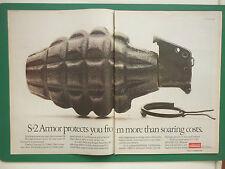 5/1986 PUB OWENS CORNING FIBERGLAS S-2 GLASS FIBER ARMOR GRENADE ORIGINAL ADVERT