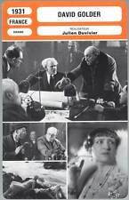 DAVID GOLDER - Baur,Andral,Monnier,Duvivier (Fiche Cinéma) 1931
