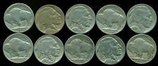 BUFFALO NICKEL 10 COIN MIXED LOT  ALL DIFFERENT  CHEAP
