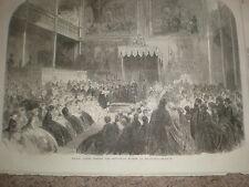 Principe Alfred l'apertura del Museo Industriale a Edimburgo 1866 Old print