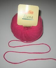 LOT of 10 balls of FUCHSIA Katia DIANA Angora Blend knitting yarn color #24