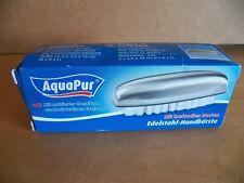 Nagelbürste Handbürste Edelstahl-Handbürste mit kraftvollen Borsten AquaPur