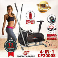 CONNECT FITNESS Elliptical Cross Trainer 4in1 & Exercise Bike Home Gym Equipment
