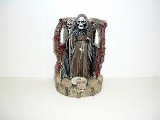 "HALLOWEEN CERAMIC GRIM REAPER CANDLE HOLDER Skeleton w/Tea Light 6"" INCHES"