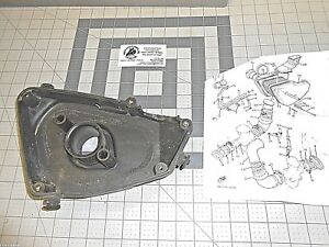 YAMAHA XV750 VIRAGO 4X7-14401 AIR CLEANER CASE USED 1 QTY OEM FREE SHIPPING