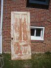 Antique Vintage Reclaimed SOLID Wood Wooden Interior Door 4 Panels Great Patina