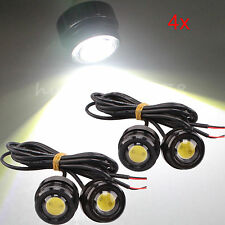 4x Cree LED Motorcycle Mirror Mount Daytime Running Fog Light Bulb 3W White New