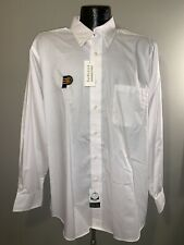 Men's VanHeusen Wrinkle Free Indiana Pacers White Dress Shirt  16.5/17 34/35 NWT