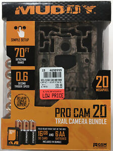 MUDDY PRO-CAM 20 TRAIL CAMERA BUNDLE MTC600-K BRAND NEW IN BOX SEALED