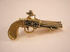 -Flintlock Percussion Pistol Vintage SMALL Tie Bar Clip gun matchlock wheellock