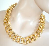 COLLANA ORO donna girocollo catena anelli dorata collier sexy gold necklace F125