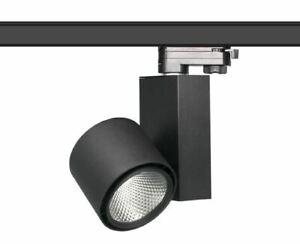LED Schienenstrahler für 3-Phasen Stromschiene schwarz 15W warmweiß 3000K CRI>90
