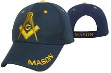 FREEMASON NAVY BLUE EMBROIDERED ADJUSTABLE HAT mason masonic baseball cap A79n