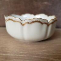Vintage Ruffled Custard Bowl - Lotus Design by Haviland  & co. Limoges France