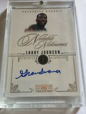 2010-11 National Treasures Notable Nicknames Larry Johnson Autograph