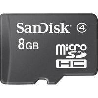 Micro-SD 8GB SPEICHERKARTE HANDY SPEICHER SDHC MIT SD-CARD ADAPTER NEU MICROSD