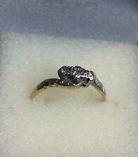 Antique 18ct Gold Platinum Set 3 Stone Diamond Ring. Size O.
