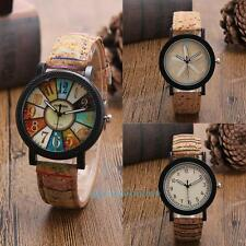 Fashion Men Women Beach Vintage Camo Leather Band Analog Quartz Wrist Watch New