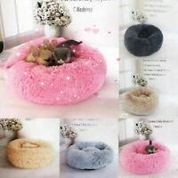 Pet Dog Cat Calming Bed Warm Soft Plush Round Nest Comfortable Sleeping Cushions
