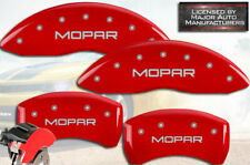 "2011-2020 Dodge Challenger R/T Front + Rear Red ""Mopar"" MGP Brake Caliper Covers"