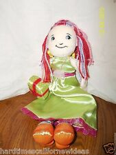 """Groovy Girls Doll Party Betsy Plush Manhattan Toy Green Pink Dress Present 13"""""""