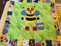 Small Wall Hanging Sized Bee Quilt