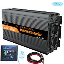 Max. 3000W 1500 Watt 24V DC to AC 220V Onda Sinusoidale Pura Potenza Inverter