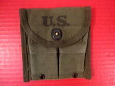 WWII M1 Carbine Magazine Belt Pouch - OD Green - Marked: Aldon 1945 - Excellent