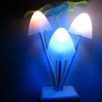 Schlafzimmer Beleuchtung EU-Stecker LED Pilz Wand Nachtlicht Bettlampe