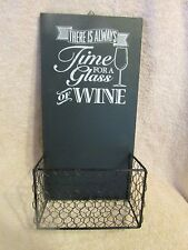 "WALL MOUNTED WINE BOTTLE CORK HOLDER ""There is Always Time For A Glass of WINE""."