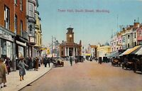 POSTCARD   SUSSEX  WORTHING    Town  Hall    South  Street
