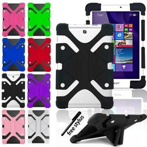 """Shockproof Silicone Stand Cover Case For 7"""" 8"""" 10"""" Alcatel OneTouch Tablet"""