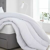 QUILTED DUVET SILKY MICROFIBRE 100% SOFT LUXURIOUS FEELS LIKE DOWN IN ALL SIZES