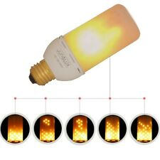 JUNOLUX Led Flame Effect Fire Light Bulb,Flicker Flame Bulb,Warm White, 3.5W E26