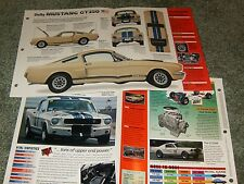 1966 MUSTANG SHELBY GT350 SPEC INFO POSTER BROCHURE AD