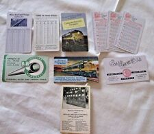 Set of Vintage Railroad Advertising Pocket Wallet Calendar Cards/Bailey Meters