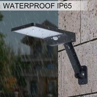 48 LED Solar Street Light PIR Motion Sensor Outdoor Garden Wall Dimmable Lamp