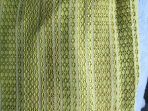 Mid Century Vintage Curtain Drape Pinch Pleat Greens 2 Large Panels