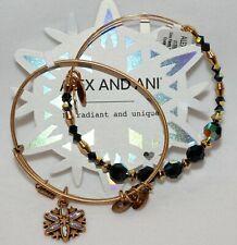 Alex and Ani 2017 Snowflake Bracelet Set Of 2 Swarovski Crystal Bangle