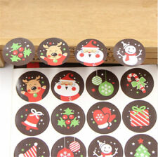 160 pcs/10 Sheet Multi Merry Christmas Badge Sticker Envelope Wrapping Decor