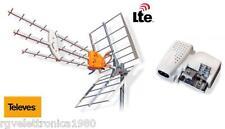 KIT ANTENNA DIGITALE TERRESTRE TELEVES DAT790 UHF + ALIMENTATORE A 2 USCITE